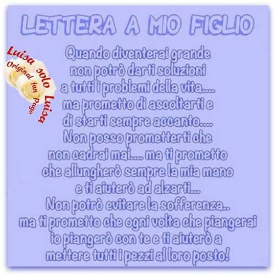Lettera A Mio Figlio Cerca Frasi Facebook